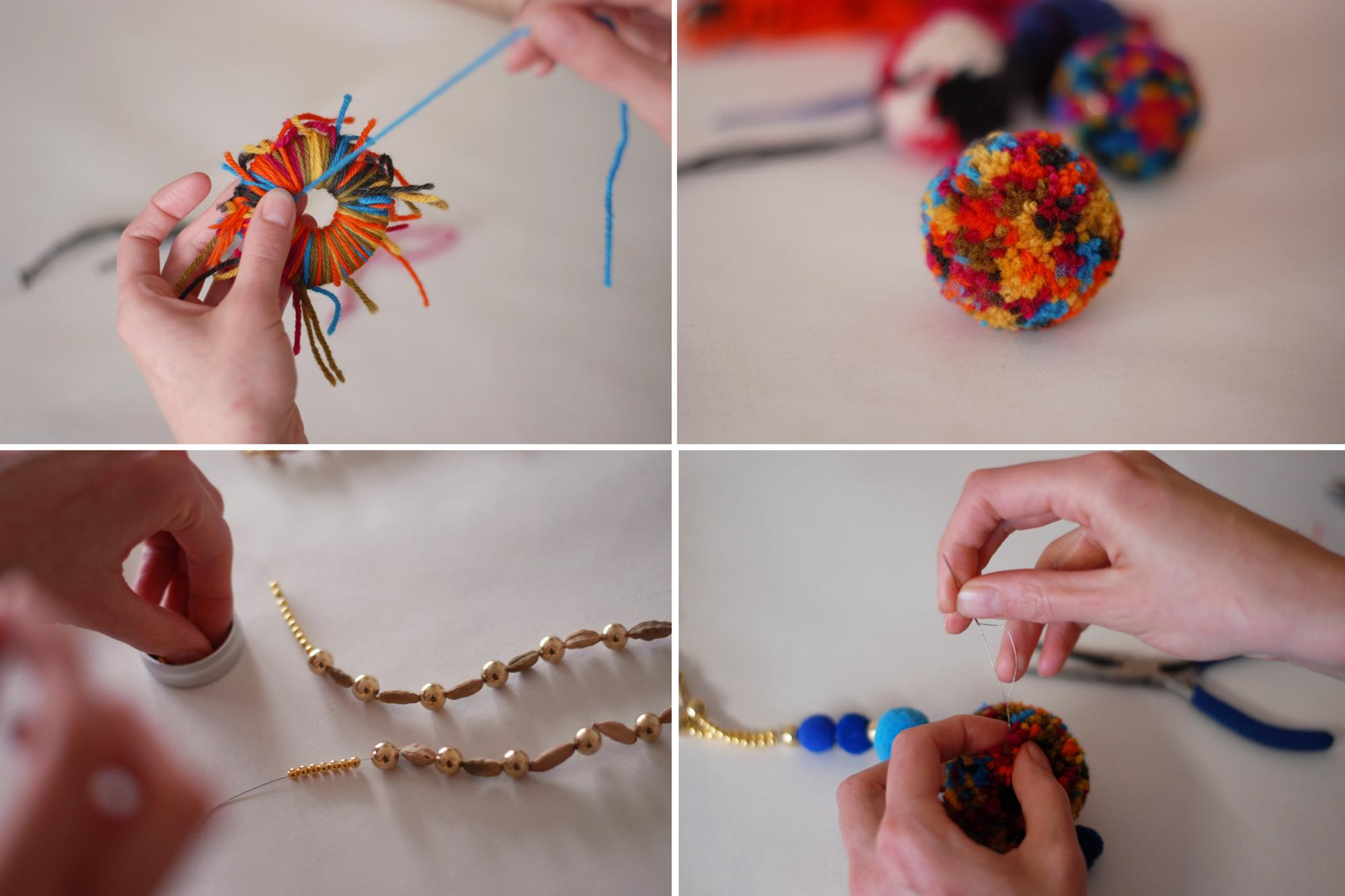proces tvorby nomádského náhrdelníku